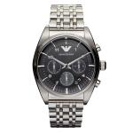 Emporio Armani Men's Gunmetal-Tone Classic Chronograph Watch AR0376