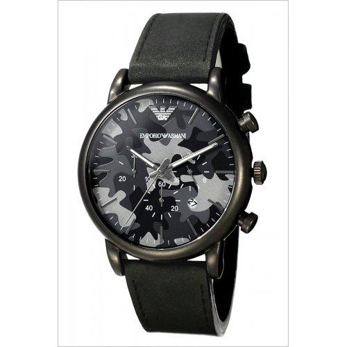 4d122fca70c Emporio Armani Classic Chronograph Grey Camouflage Dial Men s Watch AR1816