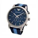 Emporio ARMANI Blue Fabric Chronograph AR1949