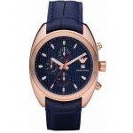 Emporio ARMANI Chronograph Blue Leather Strap AR5935