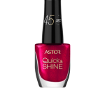 ASTOR QUICK & SHINE NAIL POLISH 8ml SHADE 306 RED LETTER DAY (53497)