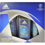 ADIDAS UEFA CHAMPIONS LEAGUE STAR EDITION 150ML DEODORANT+250ML SHOWER GEL+75ML DEODORANT (58837)