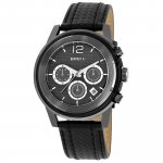 Breil Men's Quartz Stainless Steel and Leather Watch TW1082