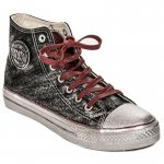 Big Star Sneakers High Black Silver Plated (BB274015)