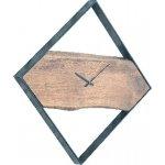 CLOCK-2 ρολόι τοίχου Μεταλ.Μαύρο/Ξύλο Ακακία Φυσικό ΕΑ7022