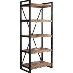 PALO βιβλιοθήκη-ραφιέρα Μεταλ.Μαύρο/Ξύλο Mango Φυσικό ΕΑ7050