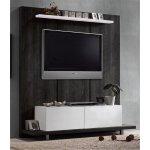 LIFE Wall έπιπλο TV Απόχρωση Μαύρο Δρυς/ Άσπρο ΕΜ380
