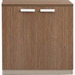 ATLAS Wood ντουλάπι χαμηλό Σκούρο Καρυδί/Καφέ ΕΟ959,1