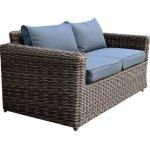 ARIZONA 2θέσιος καναπές 4mmHalfRound Wicker Grey/Brown Ε6734,2