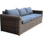 ARIZONA 3θέσιος καναπές 4mmHalfRound Wicker Grey/Brown Ε6734,3