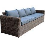 ARIZONA 4θέσιος καναπές 4mmHalfRound Wicker Grey/Brown Ε6734,5