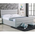 APOLLO κρεβάτι Υπέρ-διπλο Ύφασμα Sand-Grey Ε8077