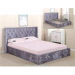 BARKLEY κρεβάτι διπλό Ξύλο/Ύφασμα Velure Light Brown Ε8090,2
