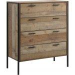PALLET συρταριέρα 4-συρτάρια Antique Oak Ε8435