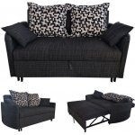 ADAMS Καναπές/Κρεβάτι Ύφασμα Μαύρο Ε9432,23