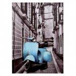 ΠΙΝΑΚΑΣ ΚΑΜΒΑΣ HM7067 BLUE MOTOCYCLE 50X70X2.5