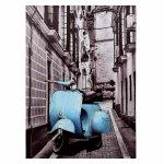 ΠΙΝΑΚΑΣ ΚΑΜΒΑΣ 50X70X2.5εκ. BLUE MOTOCYCLE HM7067