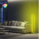 ΦΩΤΙΣΤΙΚΟ ΔΑΠΕΔΟΥ ΜΑΥΡΟ ΜΕ RGB LED & ΑΣΥΡΜΑΤΟ ΧΕΙΡΙΣΤΗΡΙΟ HM7309 30x30x120 εκ.