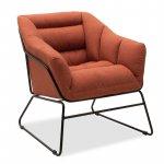 Πολυθρόνα Ethan pakoworld με ύφασμα χρώμα κεραμιδί  66x70x75εκ