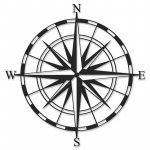 Μεταλλικό διακοσμητικό τοίχου Compass pakoworld 45x0,3x45εκ