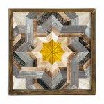 Πίνακας σε mdf PWF-0212 pakoworld με ξύλινο πλαίσιο-ψηφιακή εκτύπωση 50x3,5x50εκ