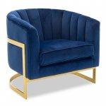 Πολυθρόνα Casanova pakoworld με βελούδο χρώμα μπλε ηλεκτρίκ  80x74x74εκ